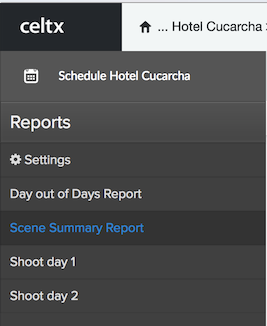 Reports in Celtx