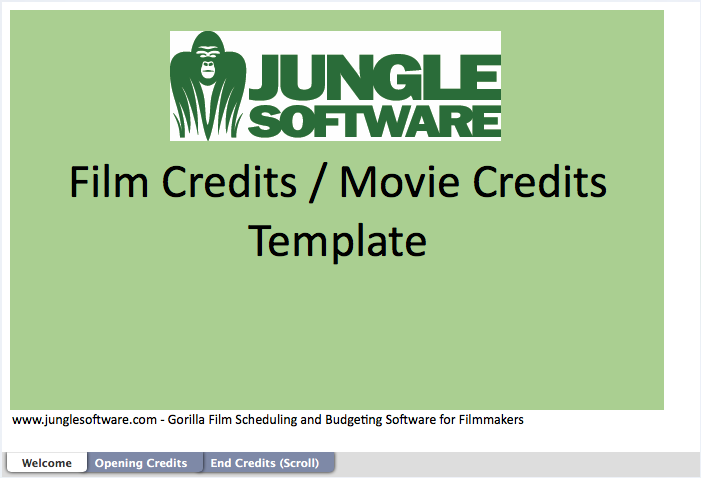 guide to film credits order hierarchy with template