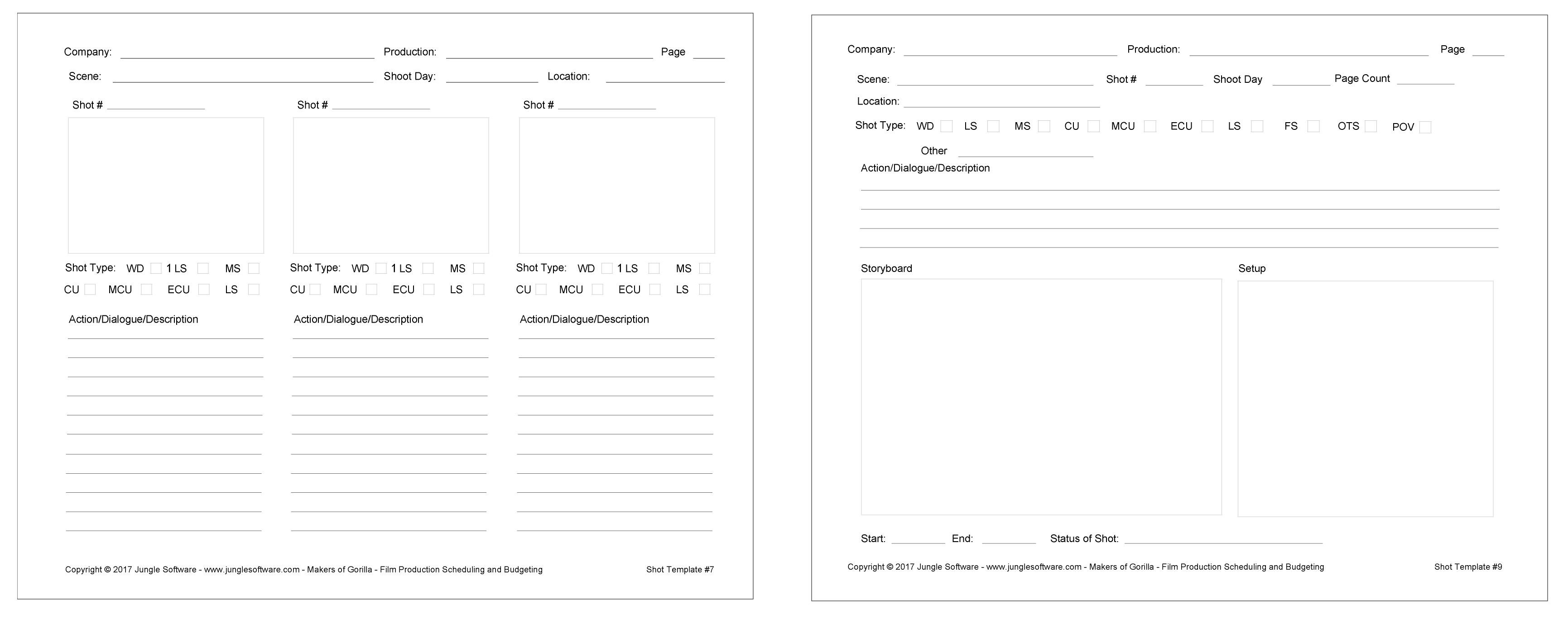 Free Film Video Storyboard Template Shot List And Storyboard
