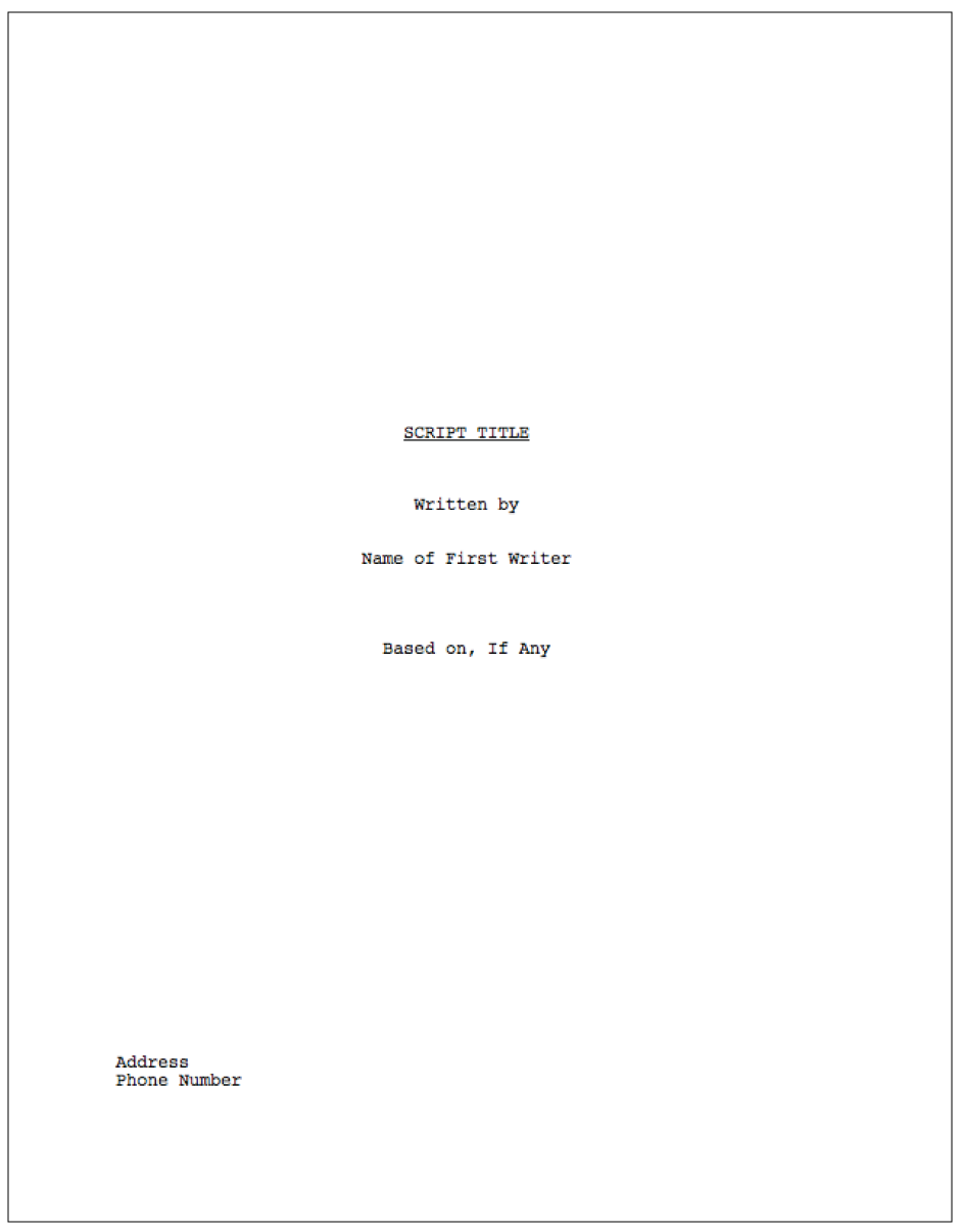 proper screenplay formatting