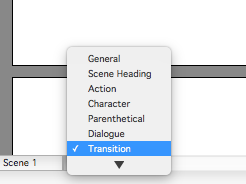 Transition for Screenplay